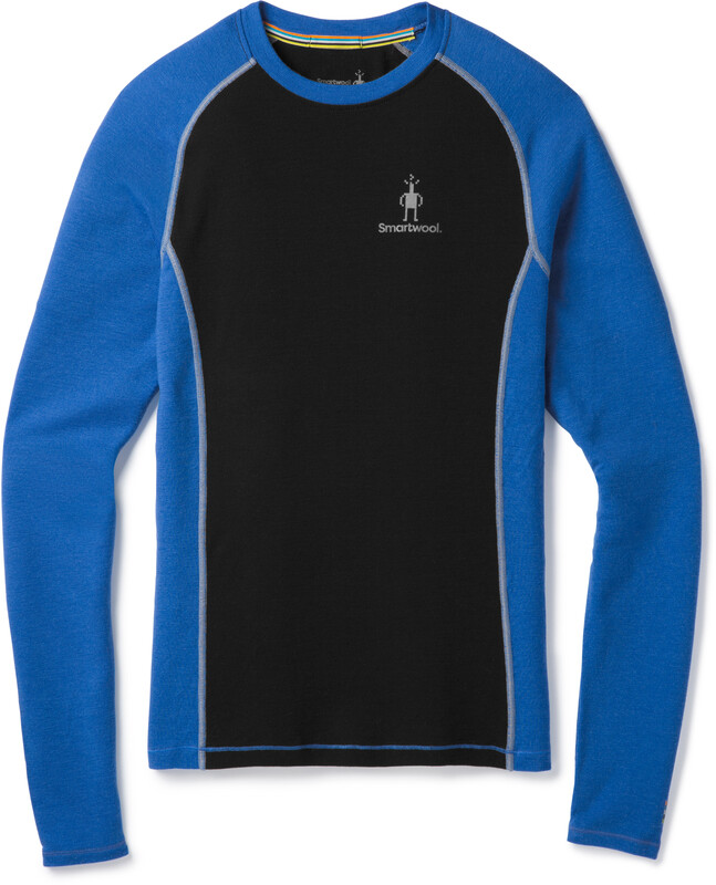 Smartwool Merino 200 Baselayer Long Sleeve Men Bright Blue-Black L 2018 Unterhemden