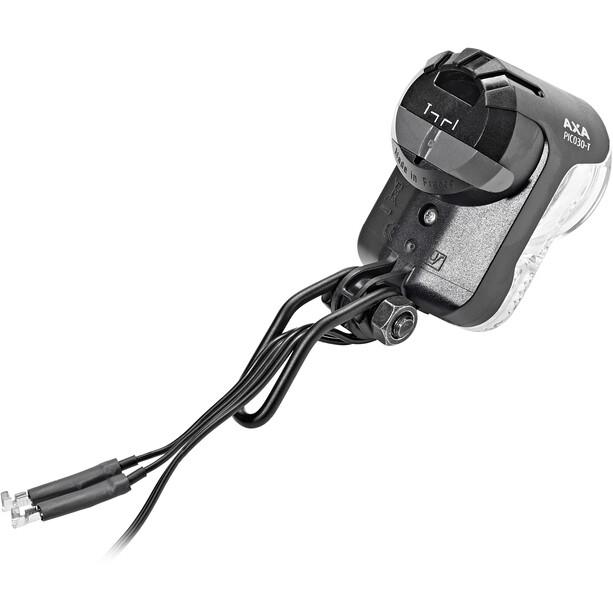 Axa Pico 30 T Scheinwerfer für Nabendynamo mit Halter und Kabel