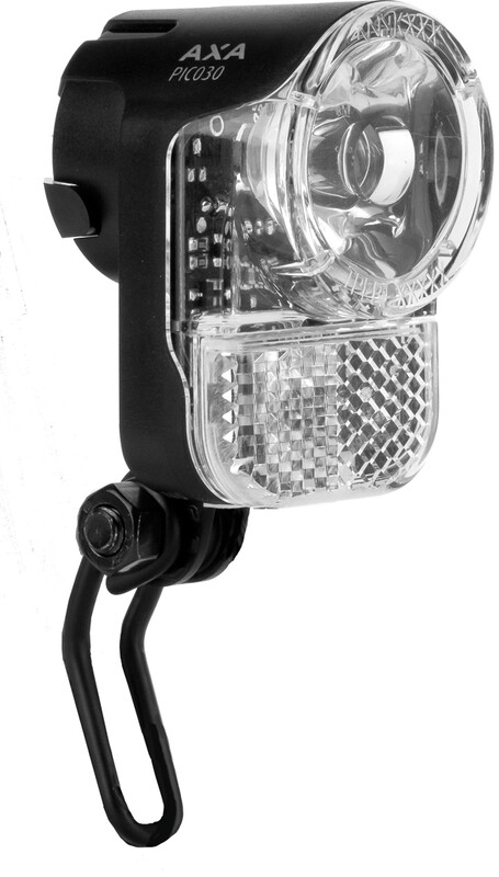 Axa Pico 30 Scheinwerfer für Nabendynamo mit Halter und Kabel Fahrradbeleuchtung StvZO  20.350-08