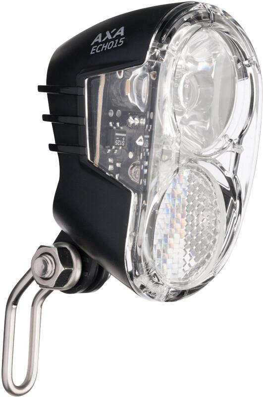 Axa Echo 15 Scheinwerfer für Nabendynamo mit Halter und Kabel Fahrradbeleuchtung StvZO  2020554700