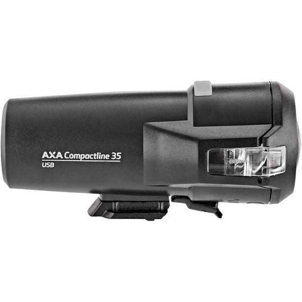 Axa Compactline 35 USB LED-Akkuscheinwerfer Set inkl. Compactline USB Rücklicht