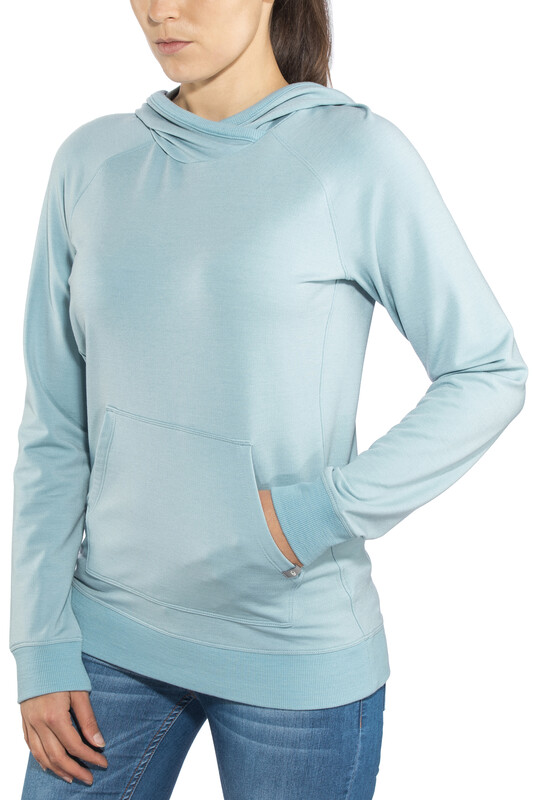Icebreaker Mira Pullover Hoody Women Waterfall S 2018 Sweatshirts & Trainingsjac