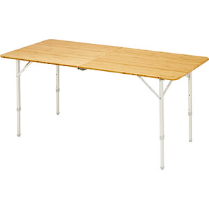 CAMPZ Bambu Taittopöytä 150x70x70cm, brown brown