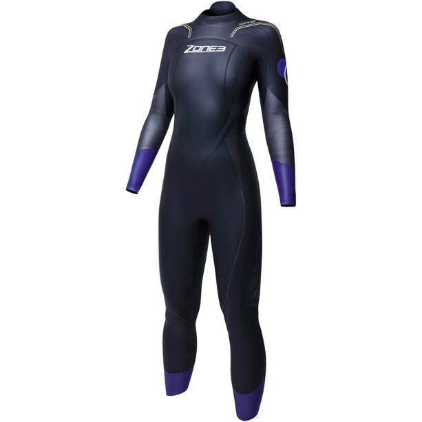 Zone3 Aspire Wetsuit Damen black/gun metal/purple