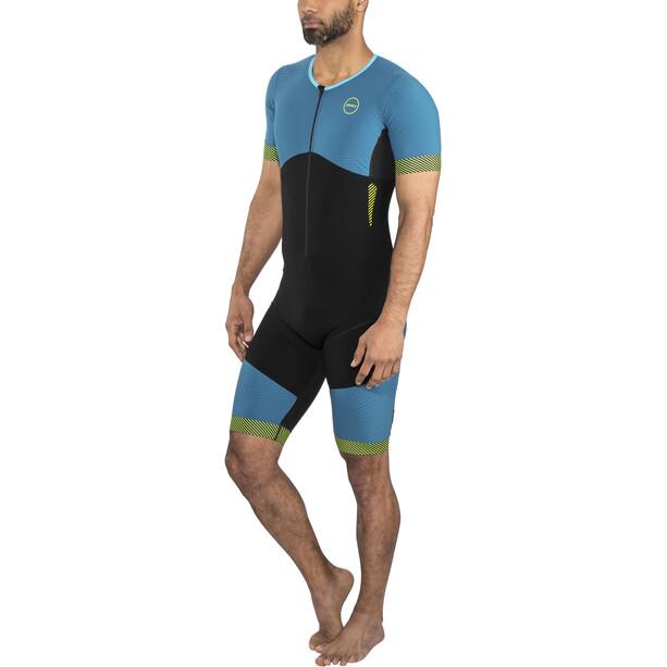 Zone3 Aeroforce SS Front Zip Trisuit Men black/teal/yellow