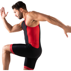 Zone3 Aquaflo Plus Trisuit Herren black/grey/red black/grey/red
