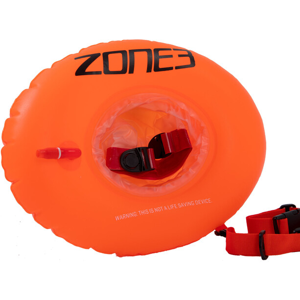 Zone3 Swim Safety Buoy Donut Dry Bag hi-vis orange