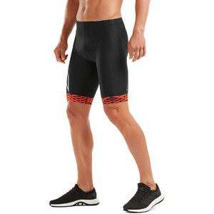 2XU Compression Tri Shorts Herrer, black/white flame lines black/white flame lines