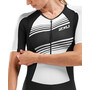 2XU Compression Sleeved Trisuit Women black/black white lines
