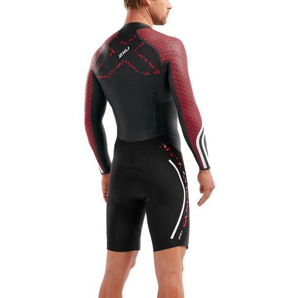 2XU Sr:Pro-Swim Run Pro Wetsuit Herren schwarz/rot