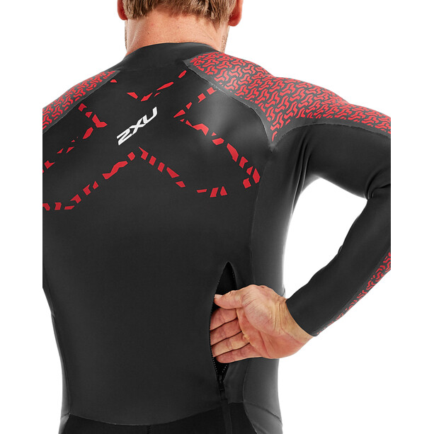 2XU Sr:Pro-Swim Run Pro Wetsuit Herren black/flame scarlet