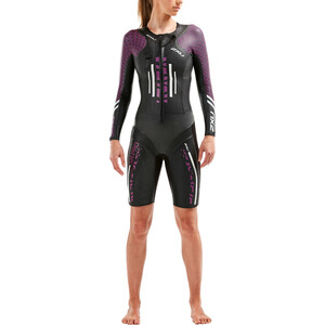 2XU Sr:Pro-Swim Run Pro Wetsuit Damen black/very berry black/very berry