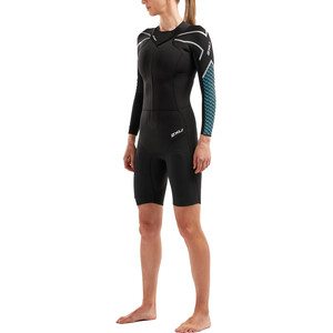 2XU Sr:Pro-Swim Run Sr1 Wetsuit Damen black/aquarius black/aquarius