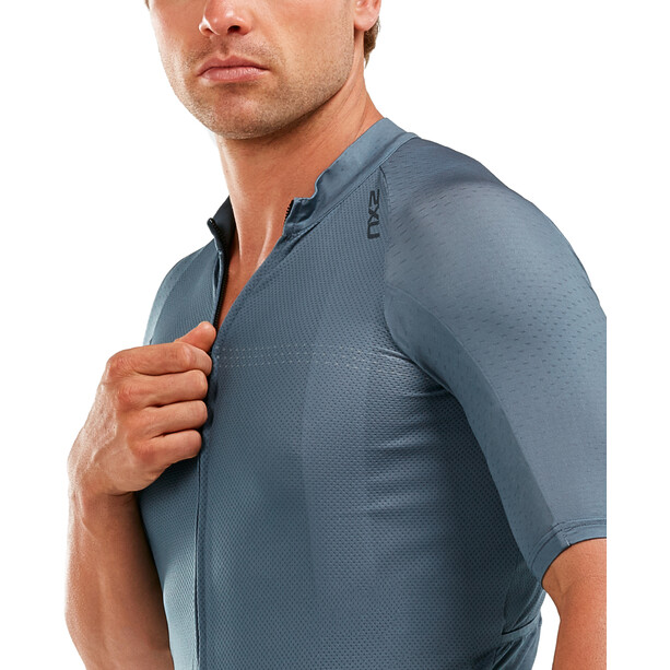 2XU Elite Cycle Trikot Herren slate grey/slate grey