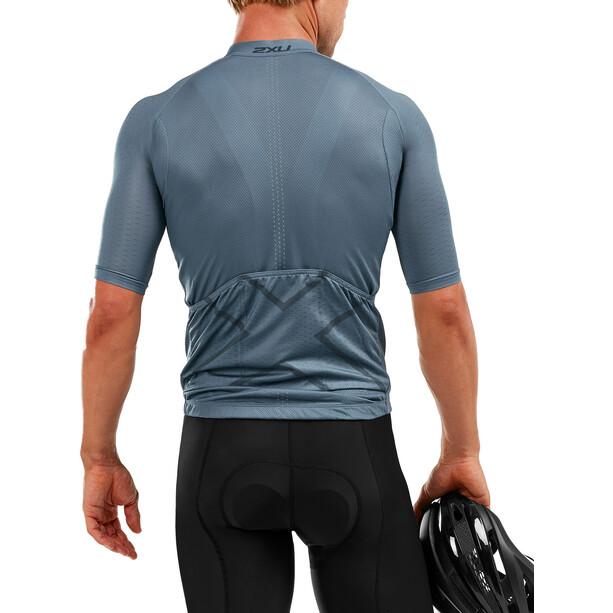2XU Elite Cycle Pyöräilypaita Miehet, harmaa