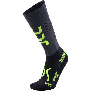 UYN Run Compression Fly Socken Herren anthracite/yellow fluo anthracite/yellow fluo