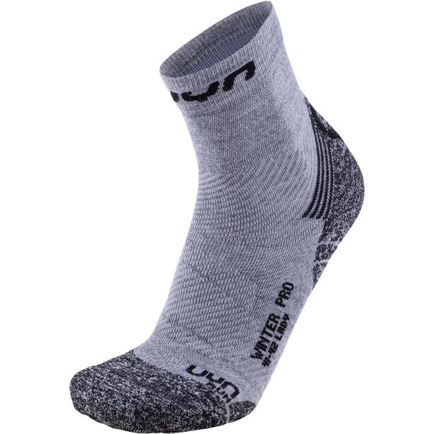 UYN Winter Pro Run Socken Damen grey/black