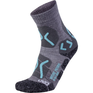 UYN Trekking Nature Merino Socken Damen light grey/water green light grey/water green
