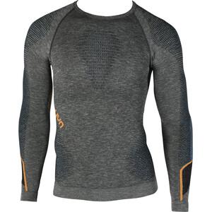 UYN Ambityon Melange UW Langarmshirt Herren black melange/atlantic/orange shiny black melange/atlantic/orange shiny