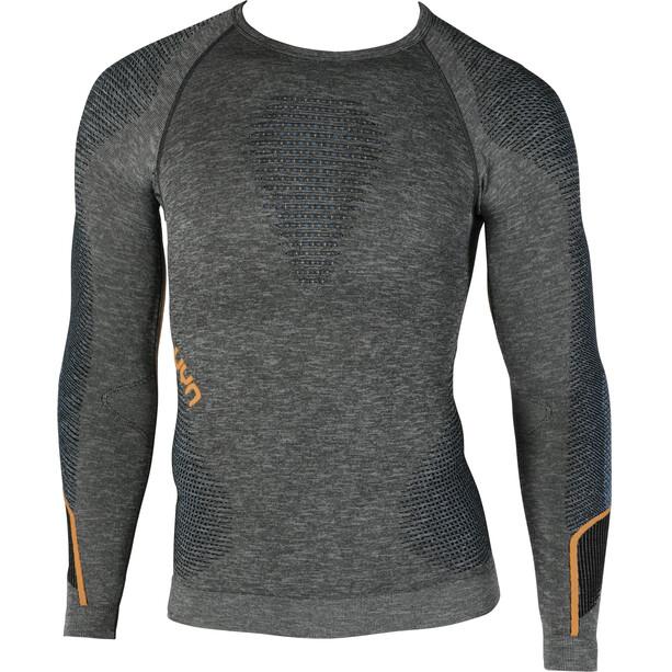 UYN Ambityon Melange UW Langarmshirt Herren black melange/atlantic/orange shiny