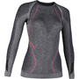 UYN Ambityon Melange UW T-shirt à manches longues Femme, black melange/purple/raspberry