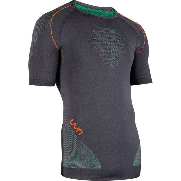UYN Multisport Evolutyon UW Kurzarmshirt Herren charcoal/green/orange shiny