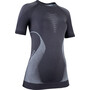 UYN Evolutyon UW Kurzarmshirt Damen charcoal/white/light grey