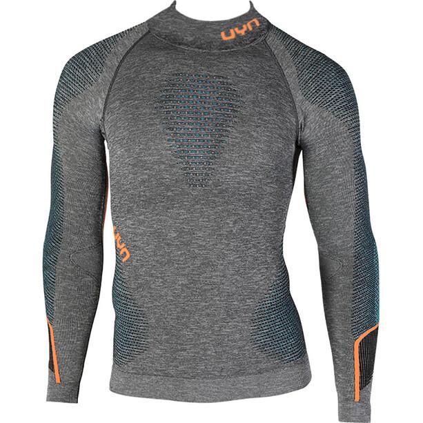UYN Ambityon Melange UW Rollkragen-Langarmshirt Herren black melange/atlantic/orange shiny
