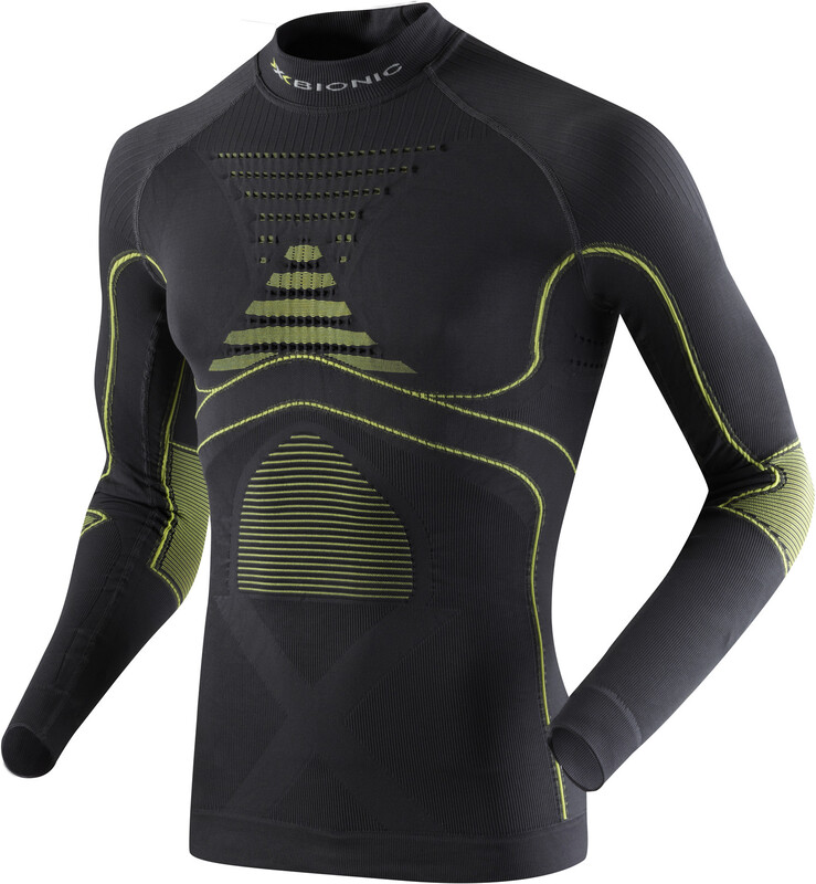 X-Bionic Accumulator EVO UW LS Turtle Neck Shirt Men Charcoal/Yellow S/M 2018 Laufunterhemden
