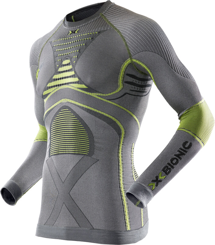 X-Bionic Radiactor EVO UW LS Shirt Men Iron/Yellow S/M 2018 Unterhemden