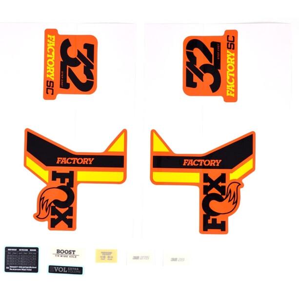 Fox Racing Shox Decal Kit 2018 32 SC F-S black/yellow/orange