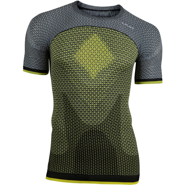 UYN Running Alpha OW SS Shirt Herr tonic yellow/sleet grey