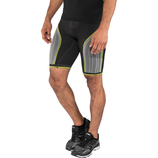 UYN Running Alpha OW Pants Shorts Herr charcoal/pearl grey/yellow