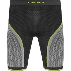 UYN Running Alpha OW Pants Shorts Herr charcoal/pearl grey/yellow charcoal/pearl grey/yellow