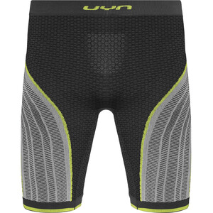 UYN Running Alpha OW Hose Kurz Herren charcoal/pearl grey/yellow charcoal/pearl grey/yellow