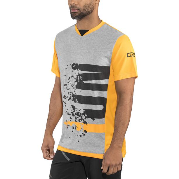 ION Letters Scrub AMP Kurzarm T-Shirt Herren smiley yellow
