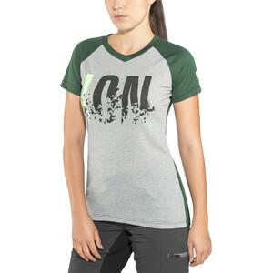 ION Letters Scrub AMP Kurzarm T-Shirt Damen grey melange grey melange