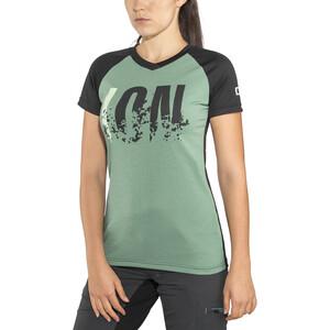ION Letters Scrub AMP Kurzarm T-Shirt Damen sea green sea green
