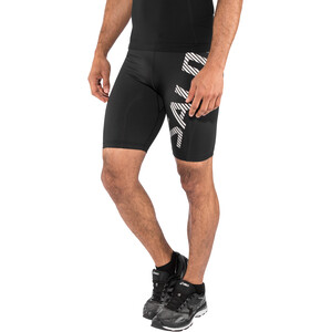 Salming Power Logo Tights Herren black/silver reflective black/silver reflective