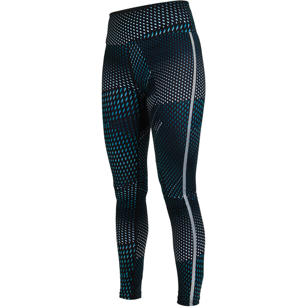 Salming Split Tights Damen deep teal all over print