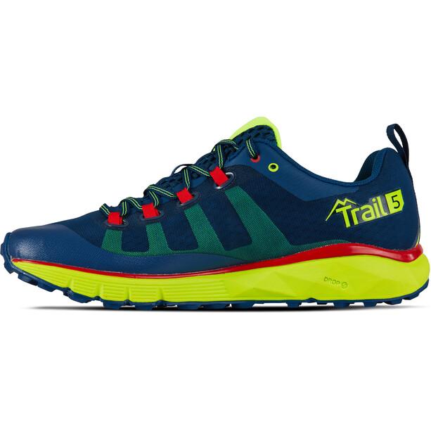 Salming Trail 5 Schuhe Herren poseidon blue/safety yellow