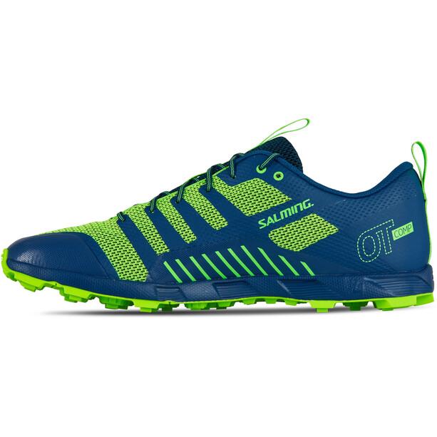 Salming OT Comp Shoes Herr poseidon blue/safety yellow