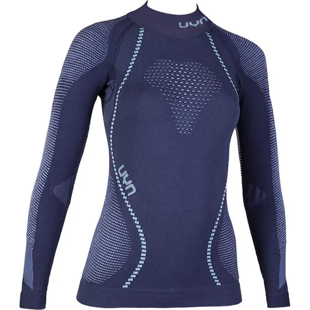 UYN Ambityon UW LS Turtle Neck Shirt Dam deep blue/white/light blue