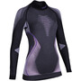 UYN Evolutyon Melange UW LS Turtle Neck Shirt Dam anthracite melange/raspberry/purple
