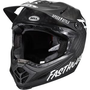 """BELL Full-9 ヘルメット マット ブラック/ホワイト """"FASTHOUSE"""""""