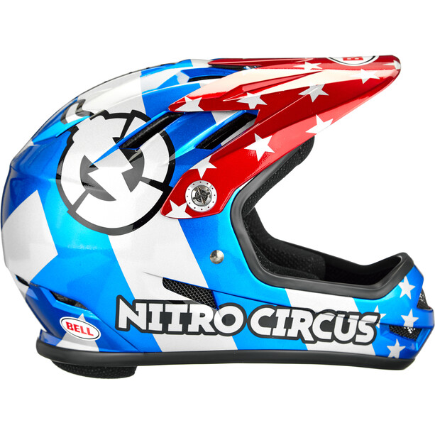 Bell Sanction Helm red/silver/blue nitro circus