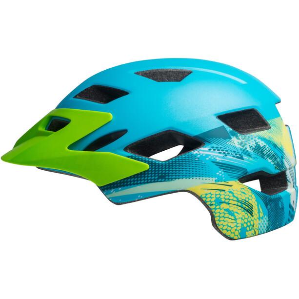 Bell Sidetrack Helm Kinder matte blue/bright green