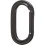Black Diamond Oval Keylock Carabiner black
