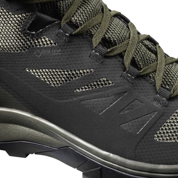 Salomon OUTline GTX Mid Shoes Herr black/beluga/capers