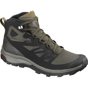 Salomon OUTline GTX Mid Shoes Herr black/beluga/capers black/beluga/capers
